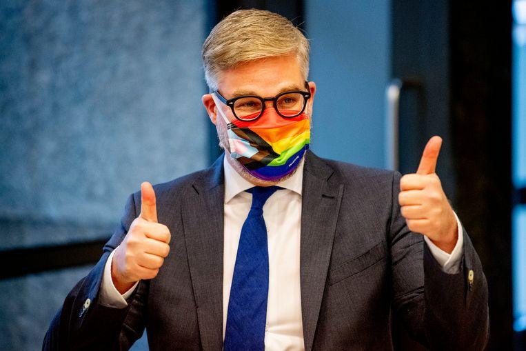 Kamerlid Sidney Smeets van D66 stapte donderdag op nadat zijn partij een onderzoek tegen hem had ingesteld. Beeld Robin Utrecht / ANP