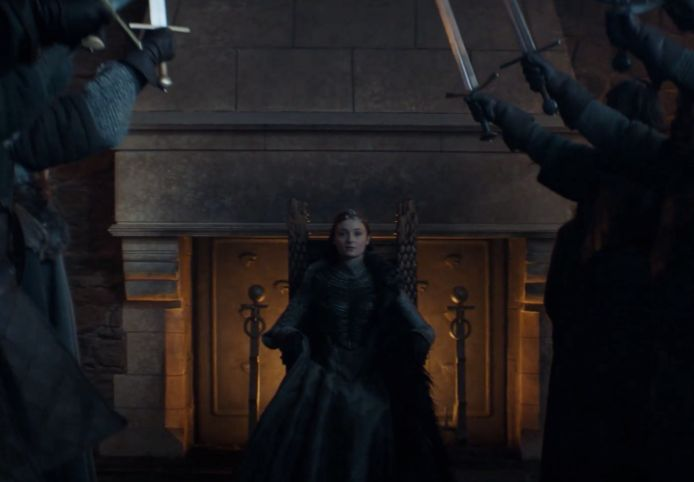 Sansa is Queen In The North.