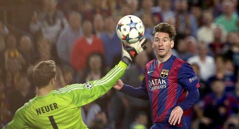 FC Barcelona's kampioen Lionel Messi. Beeld EPA