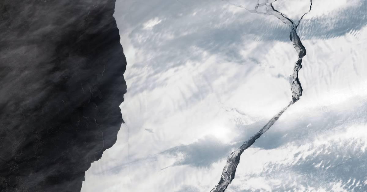 Nieuwe foto's tonen hoe diep barst in ijsplaat op Antarctica is - Het Laatste Nieuws