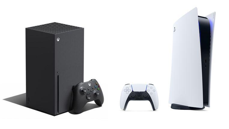 Xbox Series X en Playstation 5l. Beeld