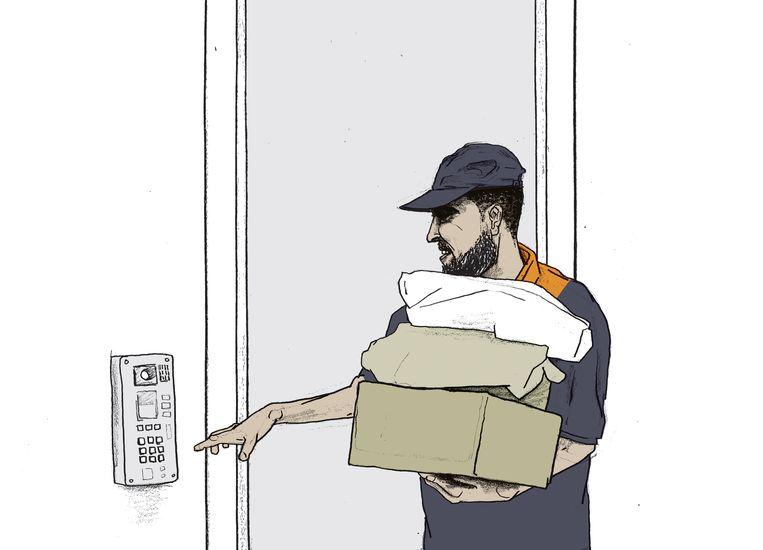 Volkskrant Zaterdag - De keten van de pakketdienst Beeld Gijs Kast