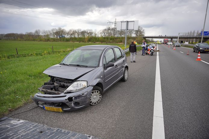 De auto raakte bij het ongeluk total loss