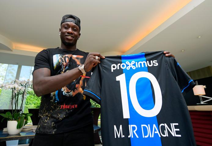 Mbaye Diagne pose avec son nouveau maillot, le 2 septembre dernier