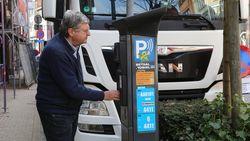Extra sticker met parkeerinstructies