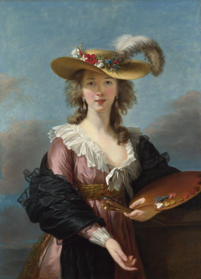 Zelfportret van Élisabeth Vigée-Le-Brun uit 1782, collectie National Gallery in Londen. Beeld