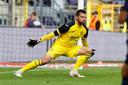 Van Crombrugge in doel tegen Ajax.