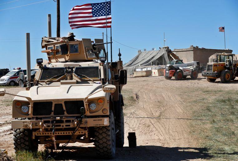 Amerikanen in Noord-Syrië, 2018. President Trump heeft besloten de Amerikaanse troepen terug te trekken uit Syrië. Beeld null
