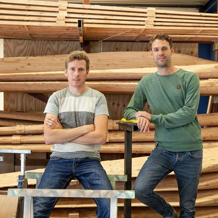 Sjouke Ritsema (l) en Bart Schuitema van E.A.Z. Wind. Beeld Harry Cock / de Volkskrant