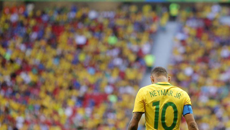 Neymar in de wedstrijd tegen Zuid-Afrika Beeld getty