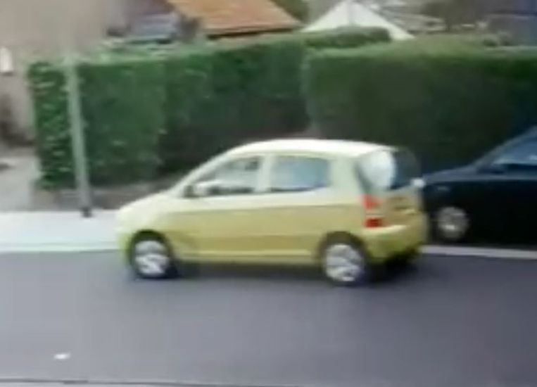 Foto van de auto waarin Celine zou zijn ingestapt op vrijdagochtend.  Beeld Politie