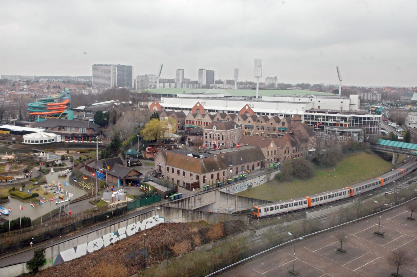 Vue aérienne du site du Heysel.
