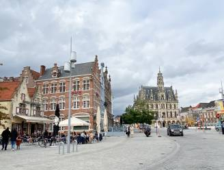 En zo zag de anders zo drukke Markt in Oudenaarde eruit op de dag van de Ronde
