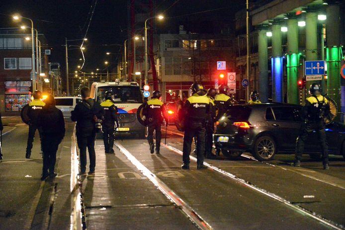 Maandagavond was het opnieuw onrustig in de Schilderswijk.