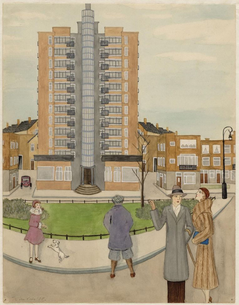 De Wolkenkrabber, Victorieplein, 1935, door T. de Vries Beeld Collectie Stadsarchief