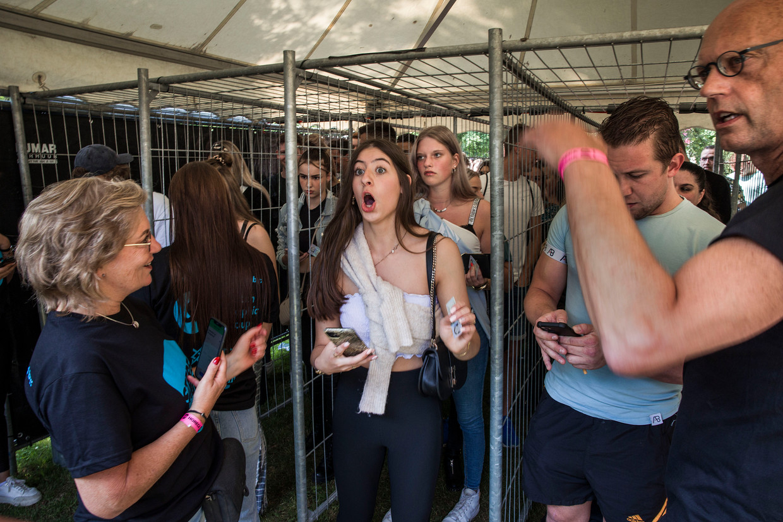 Op het Stereo Sundayfestival in Venlo kon je alleen naar binnen met een negatieve coronatest. Beeld Arie Kievit