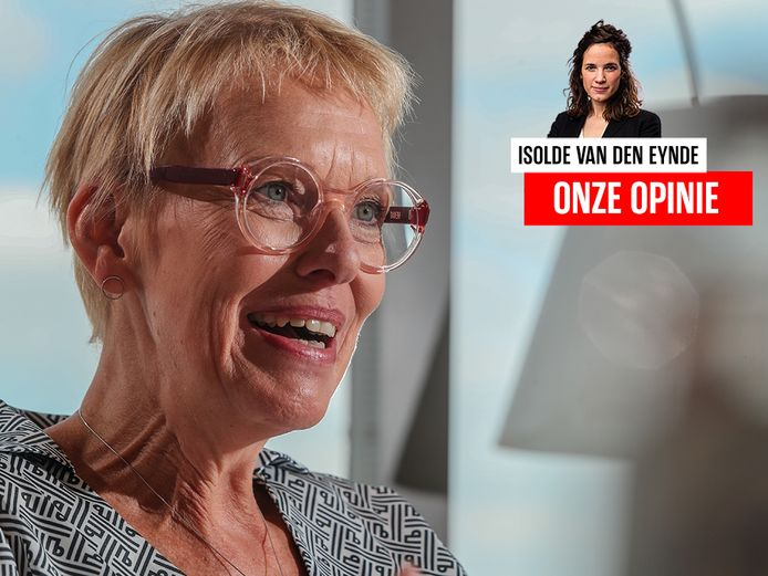 Minister van Pensioenen en Maatschappelijke Integratie Karine Lalieux (PS).
