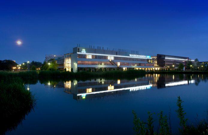 De campus van Wageningen Universiteit op archiefbeeld.