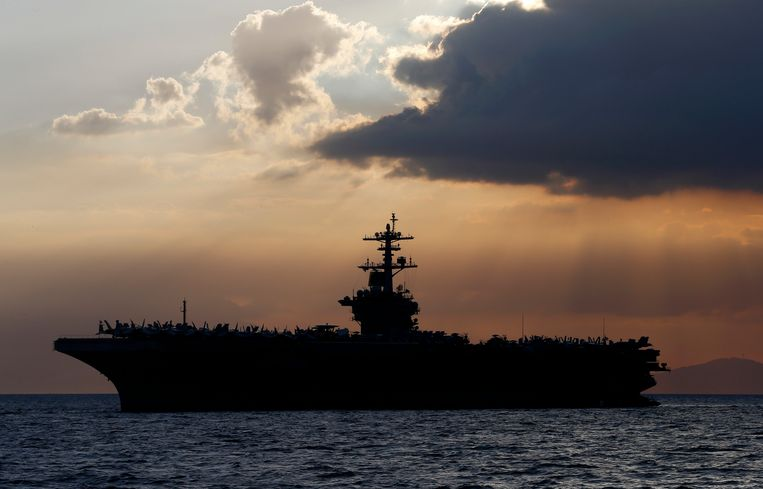 De USS Theodore Roosevelt.