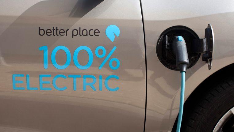 Elektrische auto aan de oplader. Beeld EPA