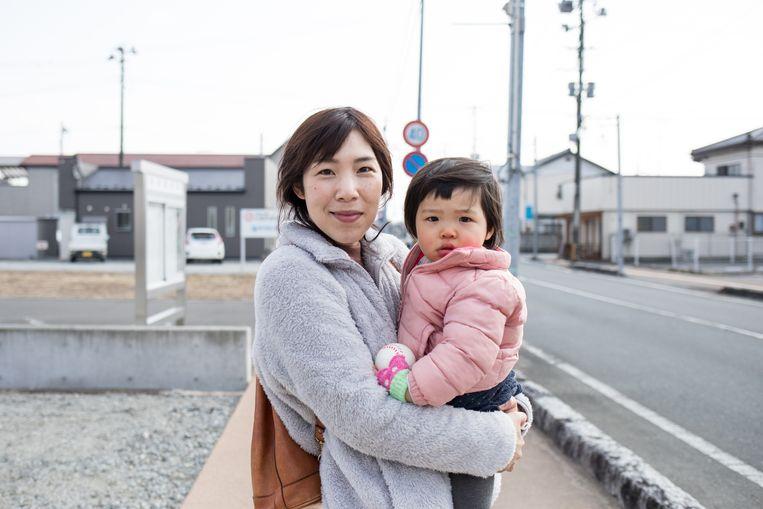 Seiko Moriyama en haar dochter van twee beginnen in Odaka juist een nieuw leven. Beeld Hiroki Taniguchi