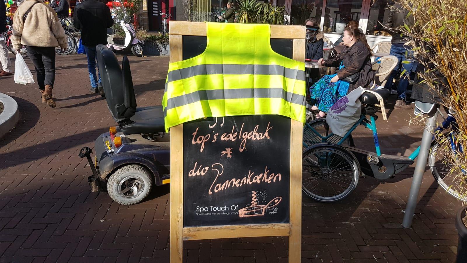 Protest in Zeist tegen verkeersplan van de gemeente.