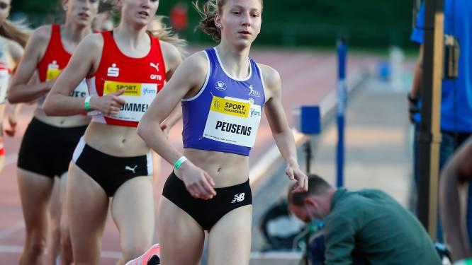 """Fien Peusens presteert prima op scholiereninterland op de 1500m: """"Tevreden over m'n wedstrijd"""""""