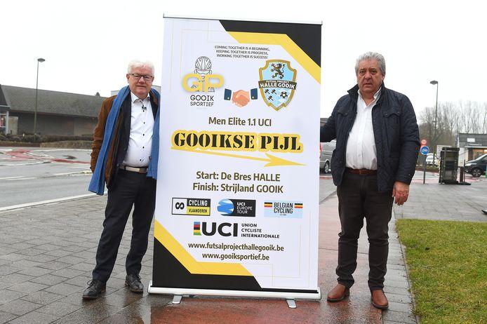 Martin Baert (links) en Danny Schets stellen samen de vernieuwde Gooikse Pijl voor.