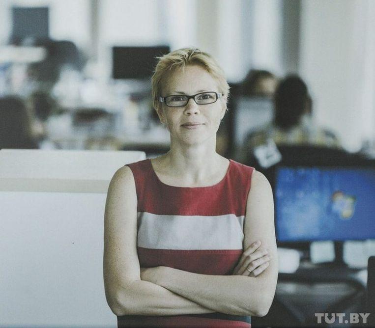 Maryna Zolatava hoofdredacteur van internetportaal Tut.by, werd veroordeeld voor 'belastingfraude'. Beeld RV