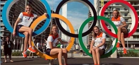 Brigitte Sleeking eindelijk in Tokio: 'Uiteraard maakten we een foto bij de olympische ringen'