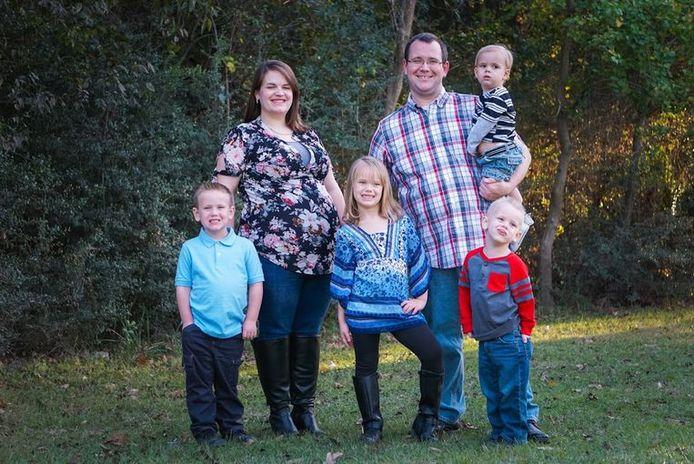 De familie Clemens samen op foto, begin dit jaar.