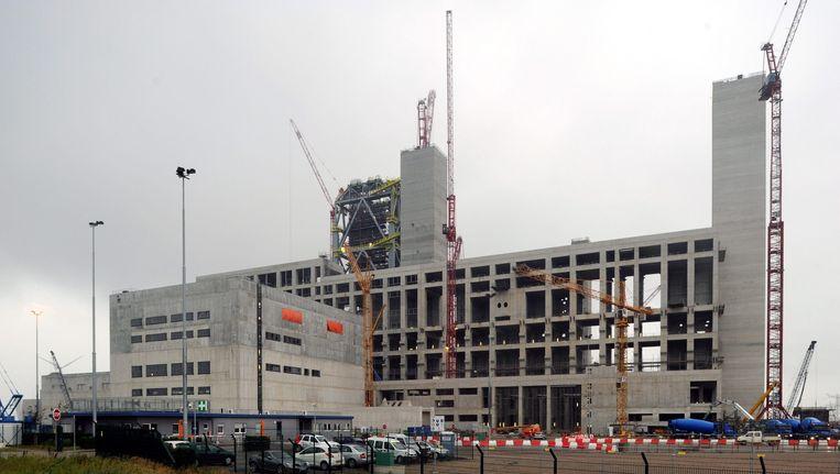 De kolencentrale in Eemshaven in aanbouw Beeld EPA