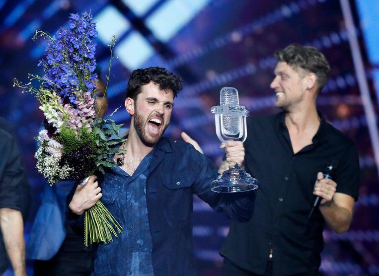 Duncan Laurence na zijn overwinning op het Eurovisie Songfestival.  Beeld AP