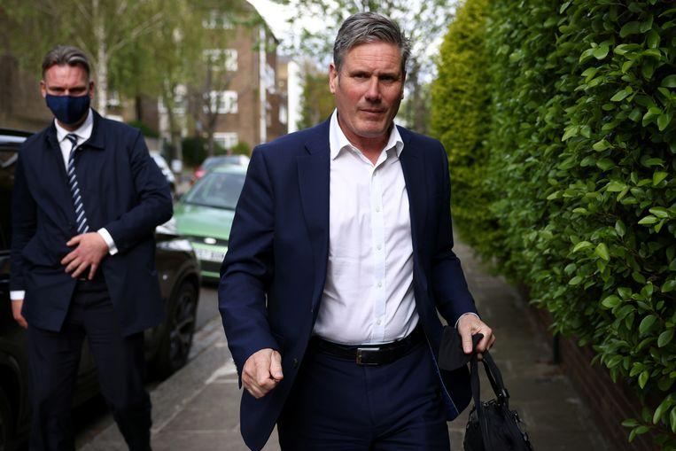 Labourleider Keir Starmer is vooralsnog geen stemmenkanon.  Beeld REUTERS