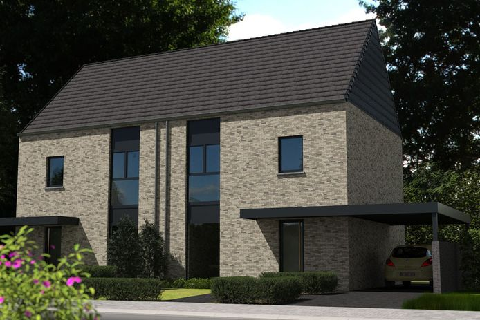 Voorbeeld van een halfopen bebouwing in project De Zandjan in Keerbergen.