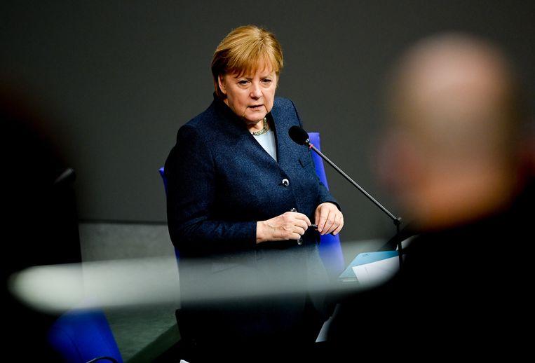 Merkel lag onder vuur voor het compromis dat ze sloot met Viktor Orbán van Hongarije en Mateusz Morawiecki van Polen. Maar misschien was het wel een slimme zet. Beeld EPA