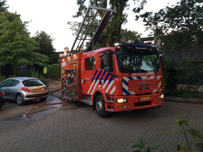 De brandweer ter plaatse aan het Numansgors.