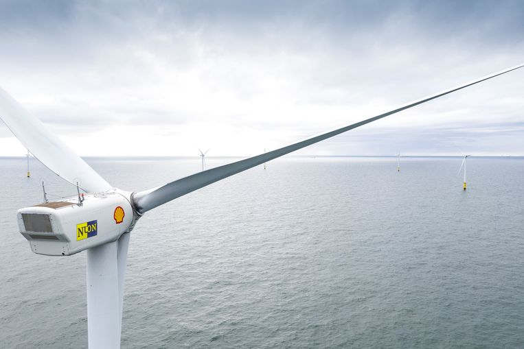 Een windturbine in Egmond aan Zee  Beeld Reuters