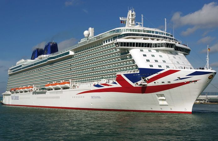 Het cruiseschip Britannia van P&O Cruises