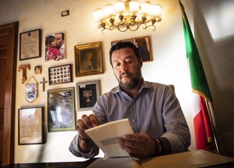 Salvini: 'Iedereen is er nu van overtuigd dat Turkije nóóit mag toetreden tot de Europese Unie, maar wij zeggen dat al jaren.' Beeld