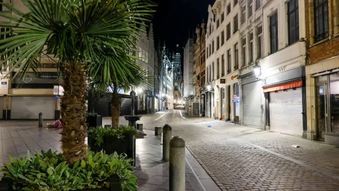 IN BEELD. Bij het ingaan van de avondklok, verandert Brussel in een spookstad