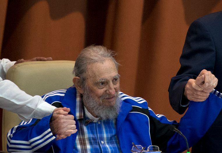 Fidel Castro in april 2016.  Beeld AP