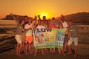 Met Flow Reizen in Turkije. In het jubileumjaar 2016 nam iedere groep een Flowvlag mee op reis.