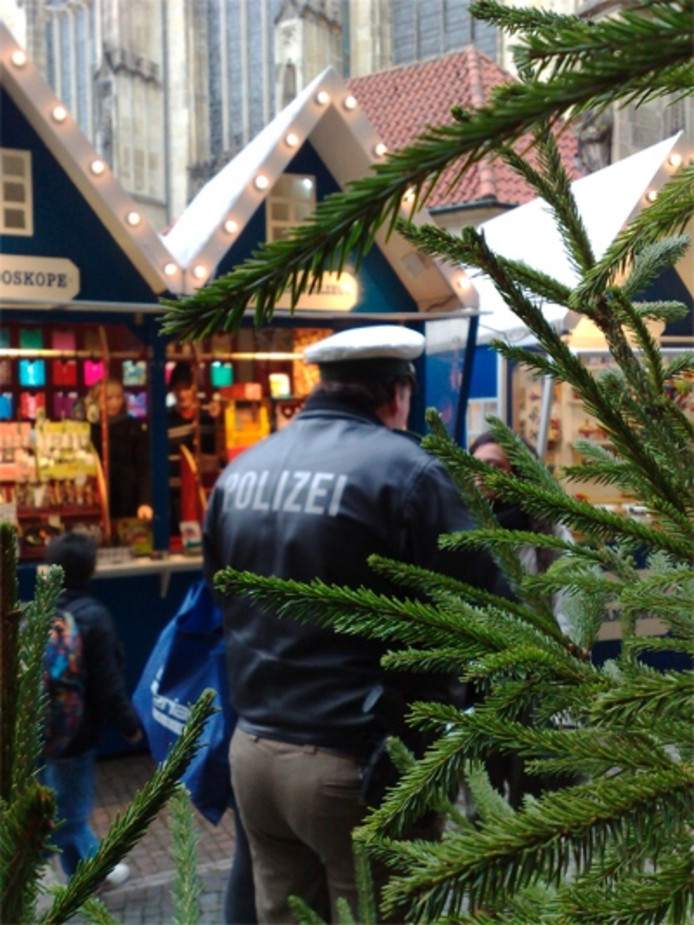 De kerstmarkt in munster. Foto's Bert Janssen