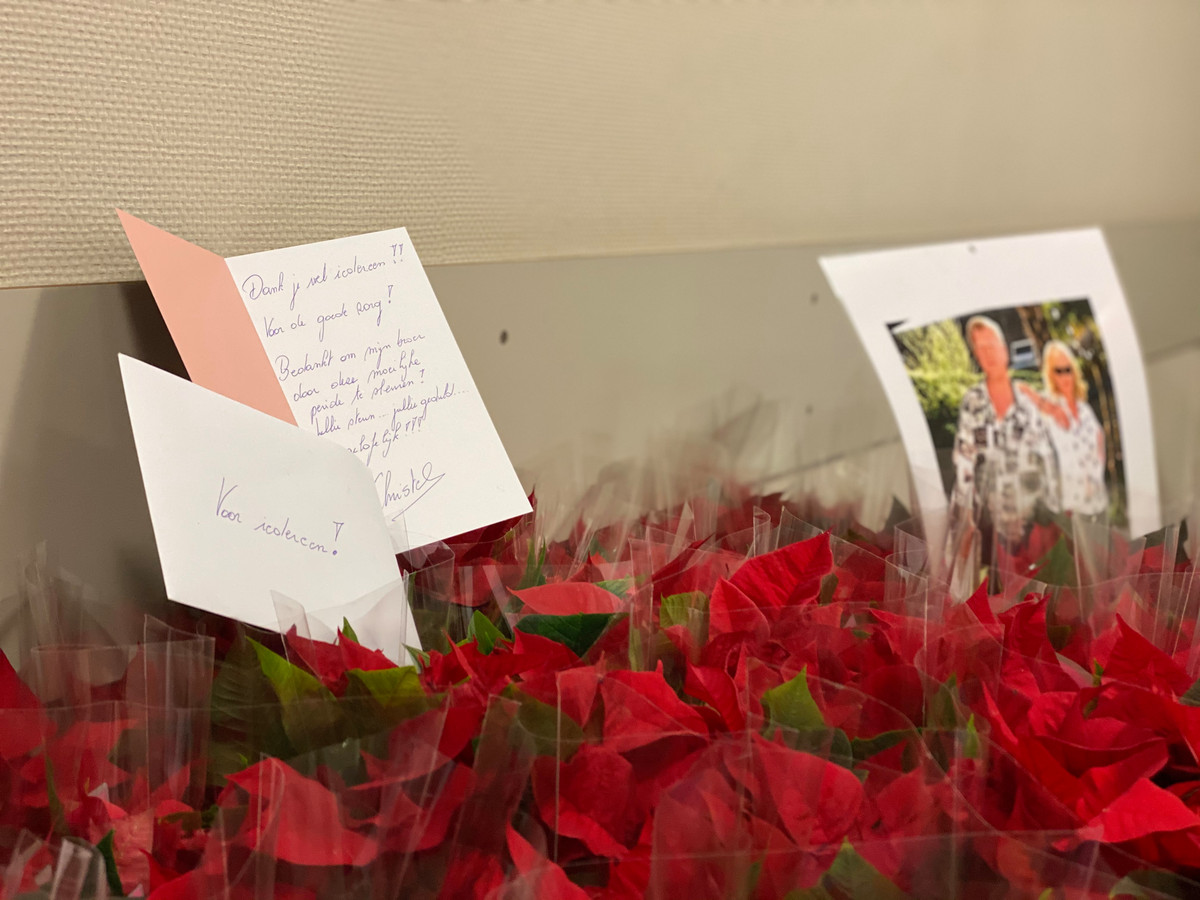 Op het kaartje schreef Christel 'bedankt om mijn broer door deze moeilijke periode te sleuren'.