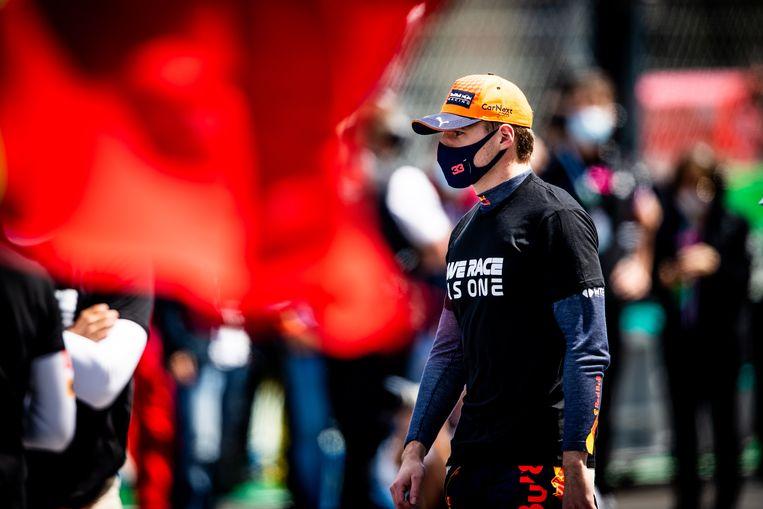 Max Verstappen, voorafgaand aan de GP in Portugal. Hij eindigde als tweede.  Beeld EPA