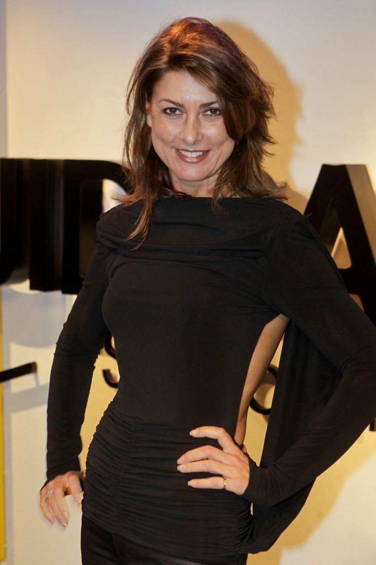 Euvgenia Parakhina bij de modeshow van Claes Iversen in Amsterdam. Beeld null