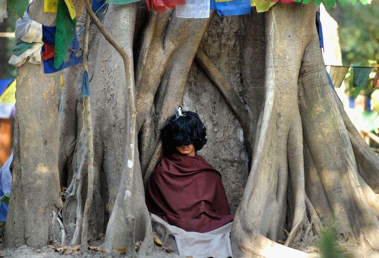 Ram Bahadur Bomjon in 2006. De jongeman was in die tijd net bekend geworden als boeddhistisch wonderkind.