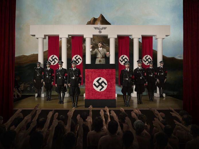 Deze afbeelding van Adolf Hitler werd verboden door de gemeente Binnenmaas.