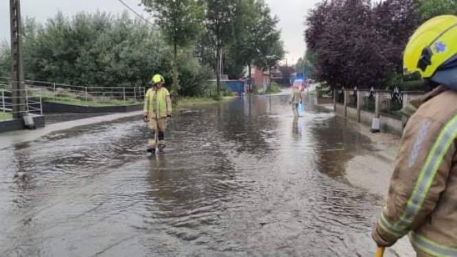 Verschillende straten blank na zware onweersbui